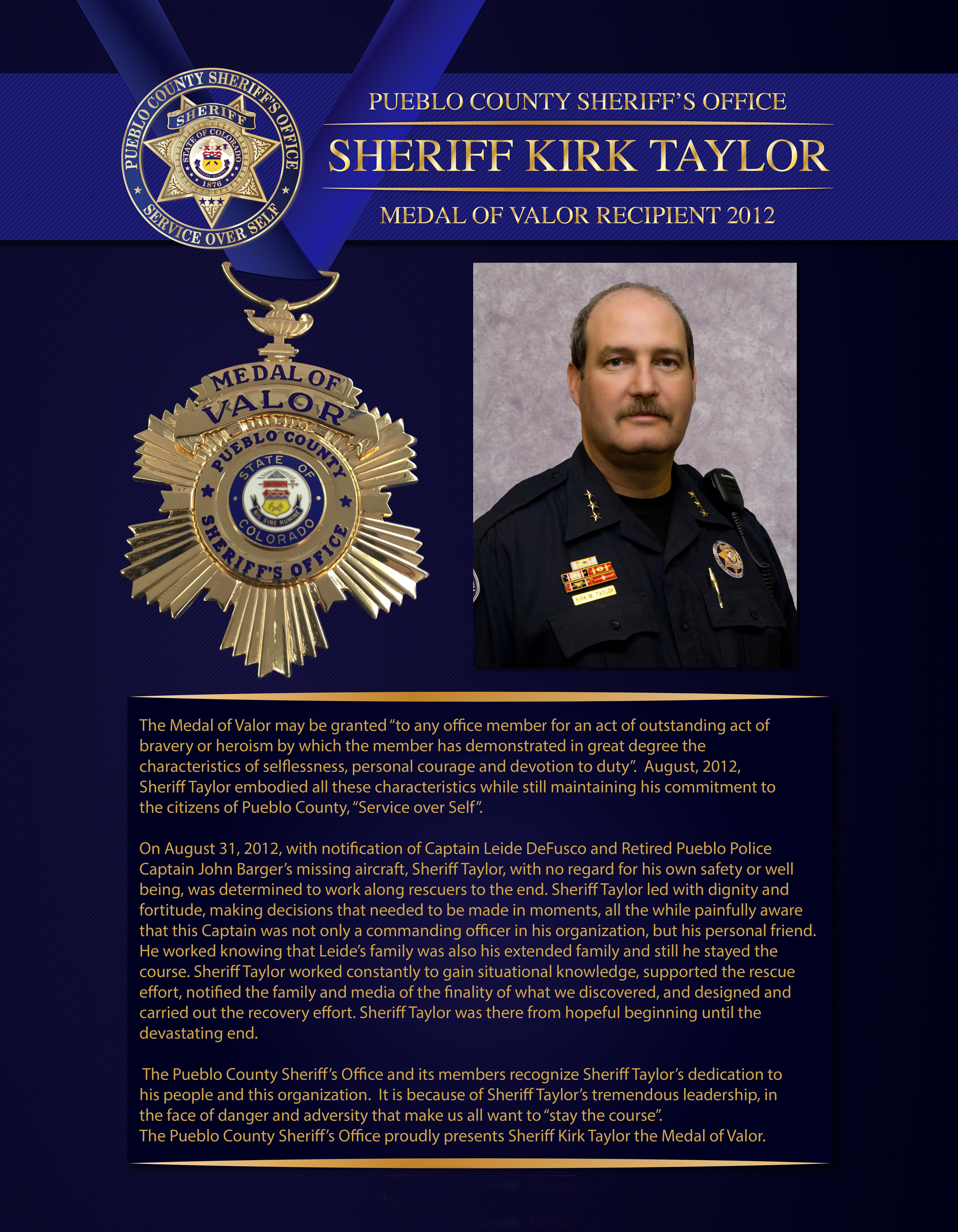 Taylor Medal of Valor