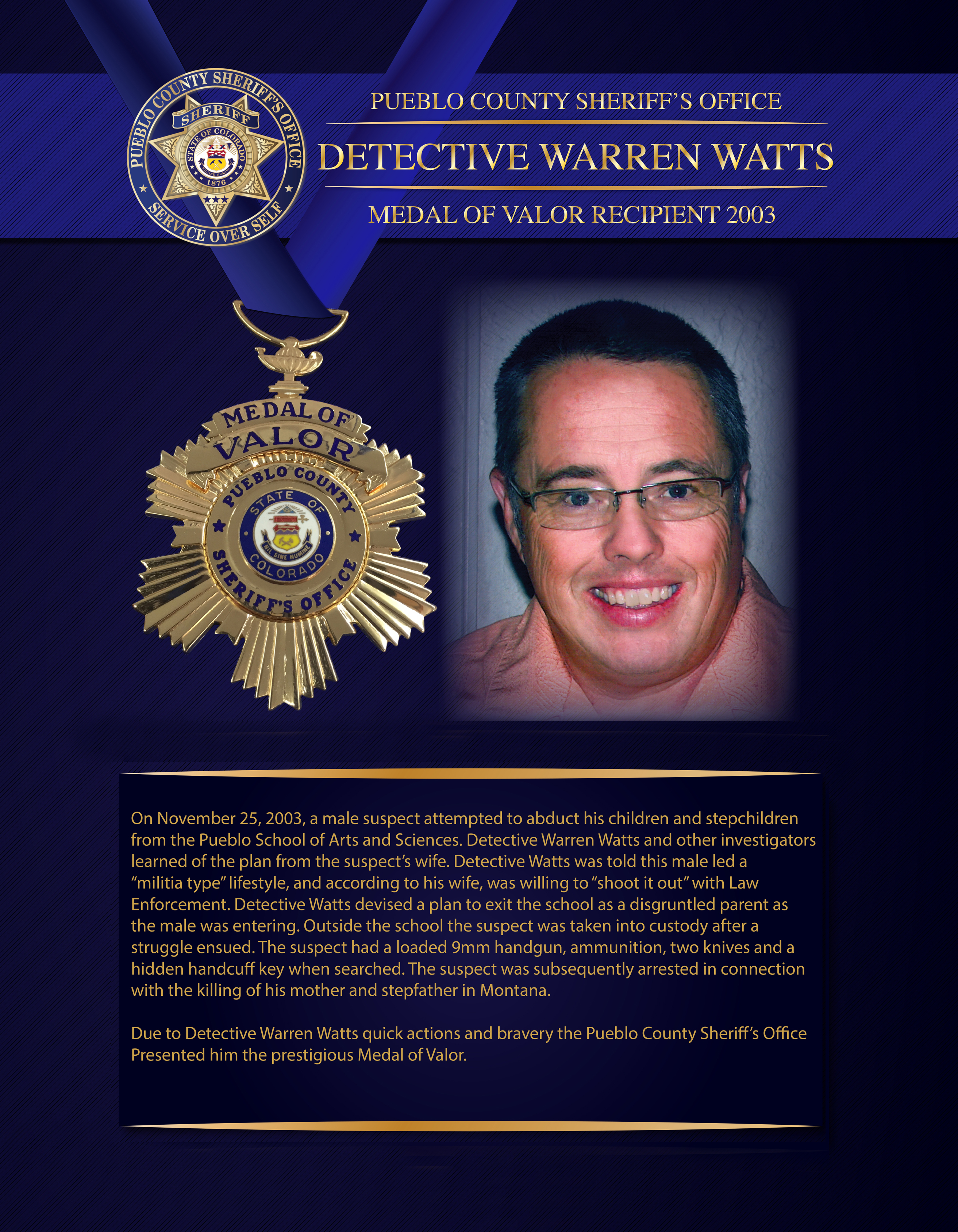 Watts Medal of Valor